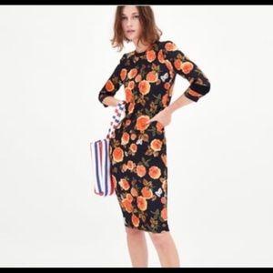 ZARA TRAFALUC Beautiful floral bodycon dress M